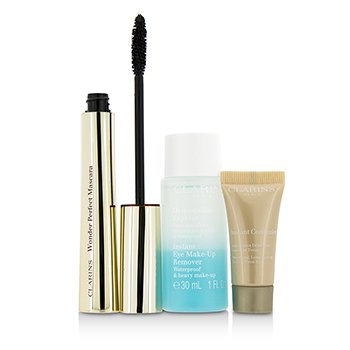 Clarins Eye Opening Beauty Set: 1x Wonder Perfect Mascara, 1x Mini Instant Eye Make Up Remover, 1x Mini Instant Concealer  3pcs