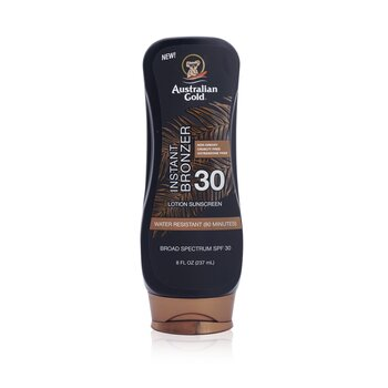 Australian Gold Lotion Sunscreen Broad Spectrum SPF 30 with Instant Bronzer  237ml/8oz
