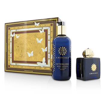 Amouage Interlude Coffret: Eau De Parfum Spray 100ml/3.4oz + Loción Corporal 300ml/10oz  2pcs