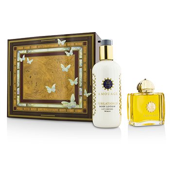 Amouage Jubilation 25 Coffret: Eau De Parfum Spray 100ml/3.4oz + Loción Corporal 300ml/10oz  2pcs