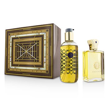 Amouage Jubilation XXV Coffret: Eau De Parfum Spray 100ml/3.4oz + Bath & Shower Gel 300ml/10oz  2pcs