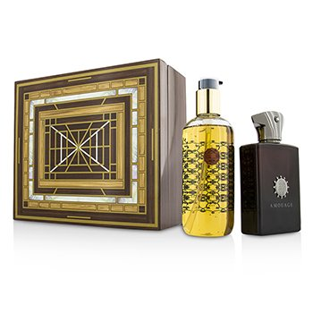 Amouage Lyric Set: Apă de Parfum Spray 100ml/3.4oz + Gel de Baie și Duș 300ml/10oz  2pcs