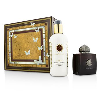 Amouage Lyric szett: Eau De Parfüm spray 100ml/3.4oz + testápoló lotion 300ml/10oz  2pcs