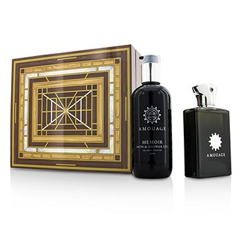 Amouage Memoir Coffret: Eau De Parfum Spray 100ml/3.4oz + Gel de Ducha & Baño 300ml/10oz  2pcs