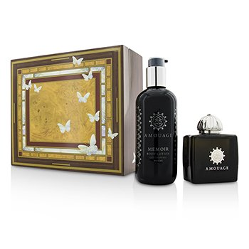Amouage Memoir Coffret: Eau De Parfum Spray 100ml/3.4oz+ Loción Corporal 300ml/10oz  2pcs