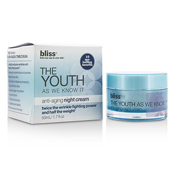 Bliss The Youth As We Know It Anti-Aging Night Cream (Box Slightly Damaged)  50ml/1.7oz