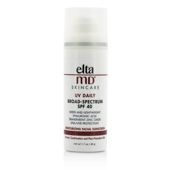 EltaMD UV Daily Moisturizing Facial Sunscreen SPF 40 - For Normal, Combination & Post-Procedure Skin  48g/1.7oz