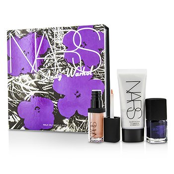 NARS Andy Warhol Walk On The Wild Side Set (1xMini Iluminador, 1xMini Esmalte Uñas, 1xMini Brillo Labios)  3pcs
