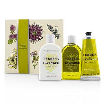 クラブツリー&イヴリン Verbena & Lavender Essentials Set: Bath & Shower Gel 250ml + Body Lotion 250ml + Hand Therapy 100g  3pcs