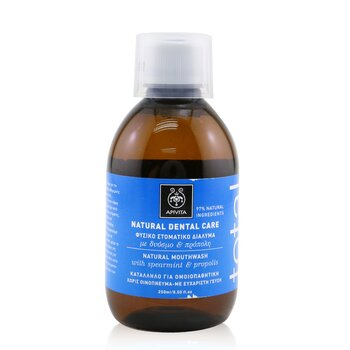 Apivita Total Natural Καθαριστικό Στόματος με Πρόπολη και Δυόσμο  250ml/8.5oz
