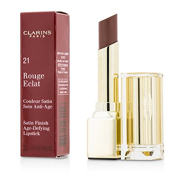 Clarins Pomadka do ust Rouge Eclat Satin Finish Age Defying Lipstick - # 21 Tawny Rose  3g/0.1oz