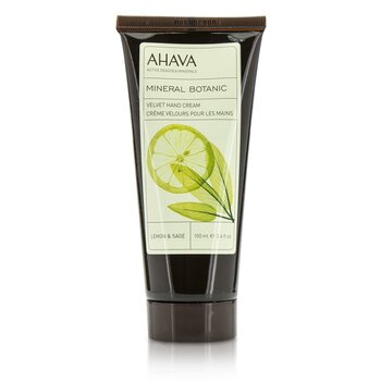 Ahava Mineral Botanic Velvet Hand Cream - Lemon & Sage  100ml/3.4oz