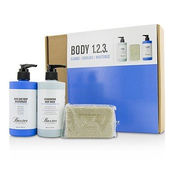 バクスターオブカリフォルニア Body 1.2.3 Kit: Body Wash 300ml + Hand & Body Moisturizer 300ml + Body Bar 198g  3pcs
