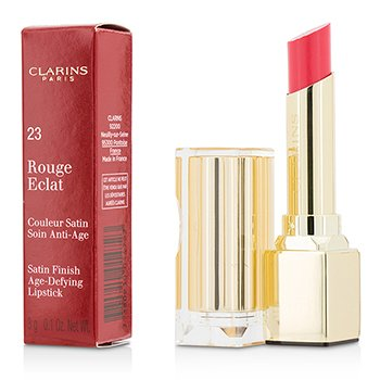 Clarins Rouge Eclat Satin Finish Age Defying Lipstick - # 23 Hot Rose  3g/0.1oz