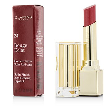Clarins Rouge Eclat Satin Finish Age Defying Lipstick - # 24 Pink Cherry  3g/0.1oz