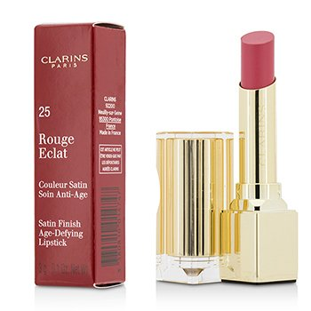 Clarins Rouge Eclat Satin Finish Age Defying Lipstick - # 25 Pink Blossom  3g/0.1oz