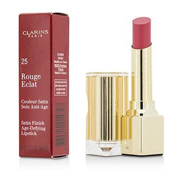 קלרינס Rouge Eclat Satin Finish Age Defying Lipstick - # 25 Pink Blossom  3g/0.1oz