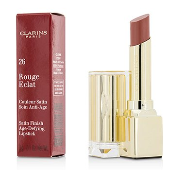 Clarins Rouge Eclat Satin Finish Age Defying Lipstick - # 26 Rose Praline  3g/0.1oz