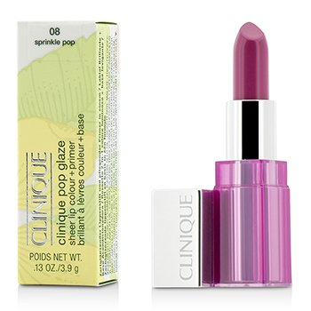 Clinique Pop Glaze Sheer Lip Colour + Primer  - # 08 Sprinkle Pop  3.9g/0.13oz