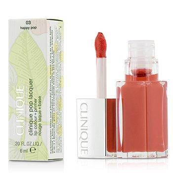 Clinique Pop Lacquer Color de Labios + Primer  - # 03 Happy Pop  6ml/0.2oz
