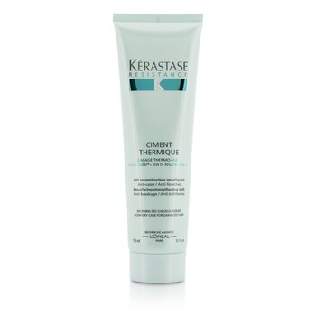Kerastase Resistance Ciment Thermique Resurfacing Strengthening Milk Blow-Dry Care - Leave In (For Damaged Hai  150ml/5.1oz