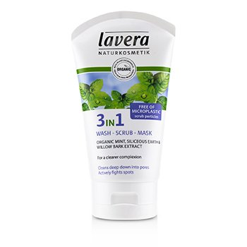 Lavera Organic Mint 3 In 1 Wash, Scrub, Mask  125ml/4.1oz