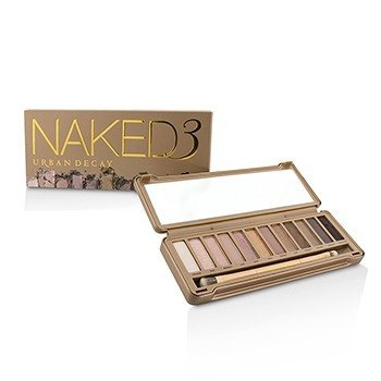 Urban Decay Naked 3 Eyeshadow Palette: 12x Eyeshadow, 1x Doubled Ended Shadow/Blending Brush  -