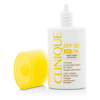 Clinique Mineral Sunscreen Fluid For Face SPF 30 - Formulasi Kulit Sensitif - Tabir Surya Untuk Wajah  30ml/1oz