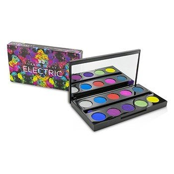 Urban Decay Electric Pressed Pigment Palette: 10x Pressed Pigment, 1x Double Ended Pressed Pigment Brush