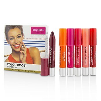 ブルジョワ Colorboost Glossy Finish Lipstick Set  6pcs