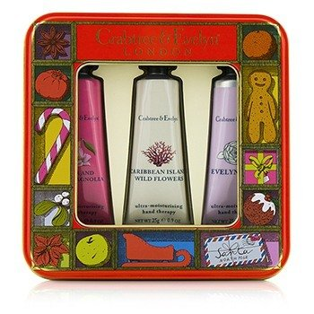 Crabtree & Evelyn Modern Floral Hand Therapy Tin Set  3x25g/0.9oz