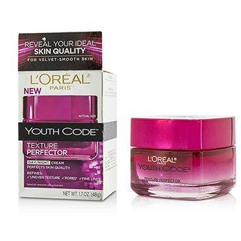 L'Oreal Youth Code Texture Perfector Day/Night Cream - Untuk Segala Tipe Kulit (Kotak Sedikit Rusak) - Krim Wajah  48g/1.7oz