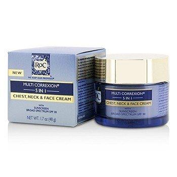 ロック Multi Correxion 5 in 1 Chest, Neck & Face Cream With Sunscreen Broad Spectrum SPF30  50ml/1.7oz