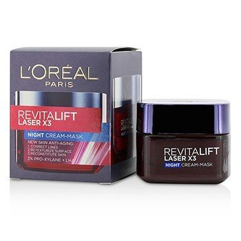 L'Oreal ماسك كريم ليلي مضاد للشيخوخة Revitalift Laser x3  50ml/1.7oz