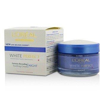 L'Oreal Dermo-Expertise White Perfect Crema Para la Noche Calmante (Fecha de Manufactura: 09/2013)  50ml/1.7oz
