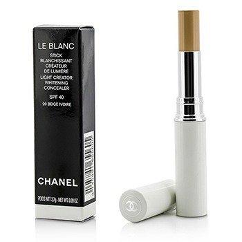ชาแนล Le Blanc Light Creator Whitening Concealer SPF 40 - #20 Beige Ivorie  2.7g/0.09oz