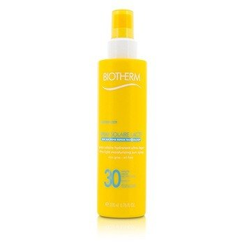 Biotherm Spray do opalania Spray Solaire Lacte Ultra-Light Moisturizing Sun Spray SPF 30  200ml/6.76oz