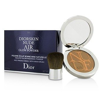 Christian Dior Diorskin Nude Air Healthy Glow Radiance Powder (With Kabuki Brush) - # 003 Warm Tan  10g/0.35oz