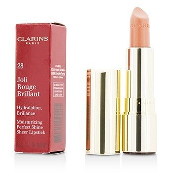 Clarins Joli Rouge Brillant (Moisturizing Perfect Shine Sheer Lipstick) - # 28 Pink Praline  3.5g/0.1oz