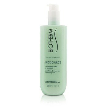 Biotherm Biosource Purifying & Make-Up Removing Milk - for normal/kombinert hud  400ml/13.52oz