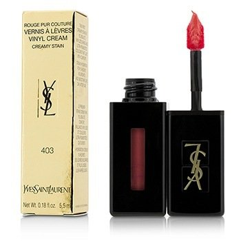 Yves Saint Laurent Rouge Pur Couture Vernis A Levres Vinyl Cream Color Cremoso - # 403 Rose Happening  5.5ml/0.18oz