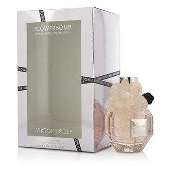 Viktor & Rolf Flowerbomb Eau De Parfum Spray (Edición Limitada Cristal Rosado)  50ml/1.7oz