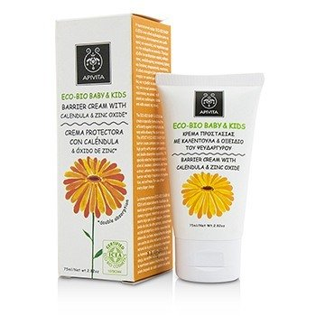 Apivita Eco-Bio Baby & Kids Barrier Cream With Calendula & Zinc Oxide  75ml/2.5oz