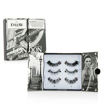 Eylure The London Edit False Lashes Multipack Duo Pack - # 121, # 117, # 154 (Adhesive Included)  2x3pairs