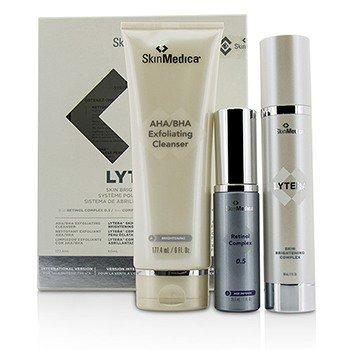 Skin Medica Lytera Skin Brightening System W/ Retinol Complex 0.5: AHA/BHA Cleanser  + Brightening Complex + Retinol Complex 0.5  3pcs