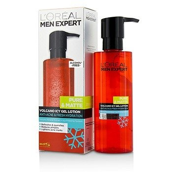 L'Oreal Men Expert Pure & Matte Volcano Icy Gel Lotion  120ml/4oz