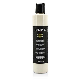 Philip B Anti-Flake II Relief Shampoo - Soothes Dry or Oily, Flaky Scalp (Exp. Date: 04/2017)  220ml/7.4oz
