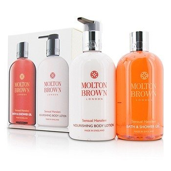 Molton Brown Zestaw Sensual Hanaleni Bath & Body Set: Bath & Shower Gel 300ml/10oz + Nourishing Body Lotion 300ml/10oz  2pcs