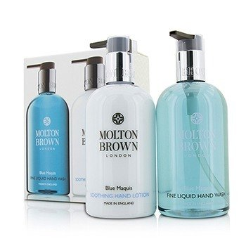 モルトンブラウン Blue Maquis Hand Care Set: Fine Liquid Hand Wash 300ml/10oz + Soothing Hand Lotion 300ml/10oz  2pcs
