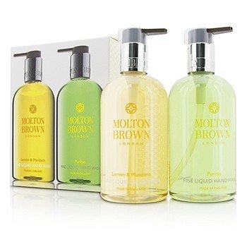 モルトンブラウン Liquid Hand Wash Set: Lemon & Mandarin 300ml/10oz + Puritas 300ml/10oz  2pcs